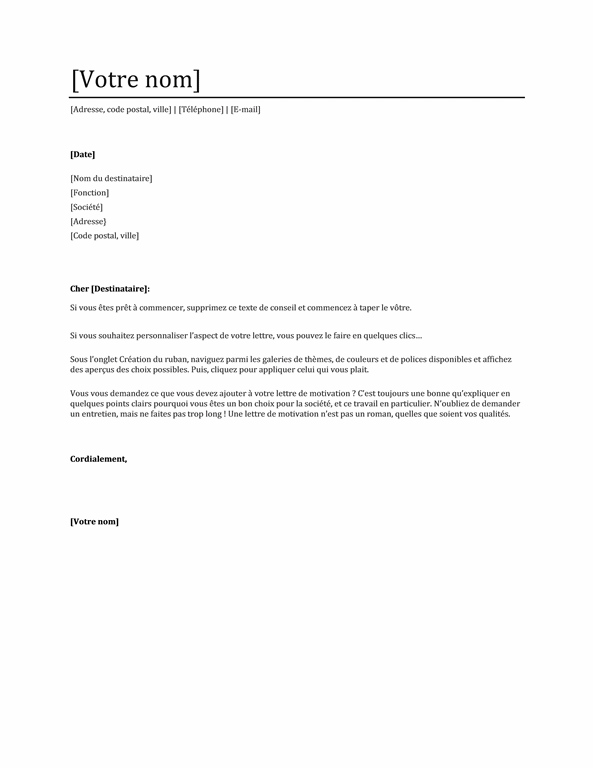 Lettre De Motivation Assistant Administratif Candidature Spontanee