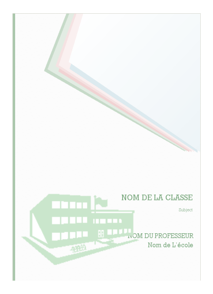 Kit De Bloc-notes Pour Ecole Modele Couverture