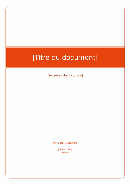 Stage Page De Garde Rapport Images